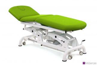 Elektrisk brits för osteopati - 3-delad med 3 motorer - Justerbart - Hjul
