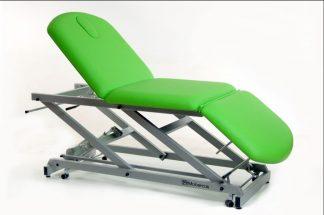 Elektrisk behandlingsstol - 3-delad med hjul - TwinPillar-lift