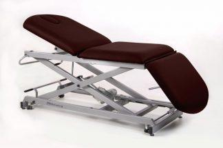 Elektrisk behandlingsstol - 3-delad med hjul - Sax-underrede