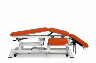 Hydraulisk brits för osteopati - 3-delad med armstöd (4 st) och hjul