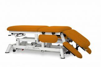 Hydraulisk brits för osteopati - 3-delad med 4 armstöd och hjul