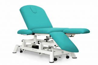 Elektrisk behandlingsstol - 3-delad - Individuella benstöd - Armstöd - Hjul