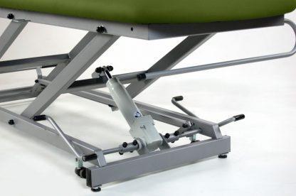 Hydraulisk brits - 2-delad med hjul - Britspappershållare - TwinPillar-lift