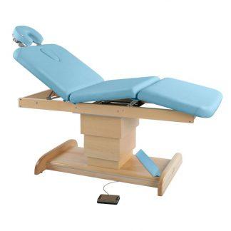 Elektrisk brits / massagebord - 3-delad med träbas
