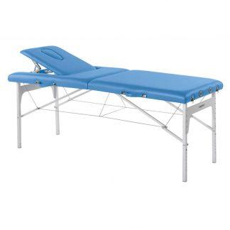Hopfällbar massagebänk (Alu) - 2-delad - 182x70cm - Justerbar höjd/ryggstöd
