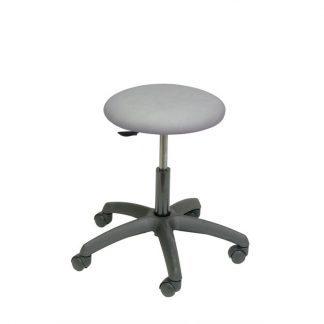 Rund stol med svart bas