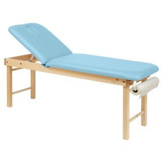 Stationär massagebord - 2-delad med träbas - Stort och justerbart ryggstöd