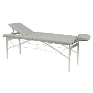 Hopfällbar massagebänk (Alu)- 2-delad - 182x70 cm - Justerbar höjd/ryggstöd