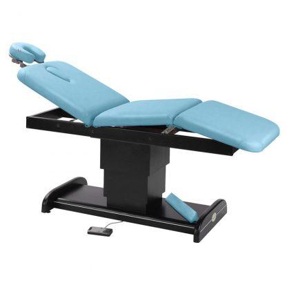 Elektrisk brits / massagebord - 3-delad med träbas (mörk finish)