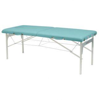 Hopfällbar massagebänk - Aluminiumram - 2-delad - 182x70 cm
