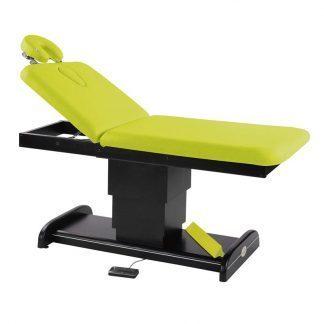 Elektrisk brits / massagebord - 2-delad med träbas (mörk finish)