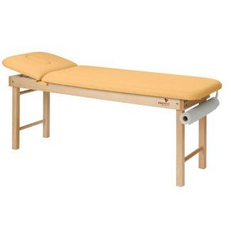 Stationär massagebord - 2-delad med träbas - Litet och justerbart ryggstöd