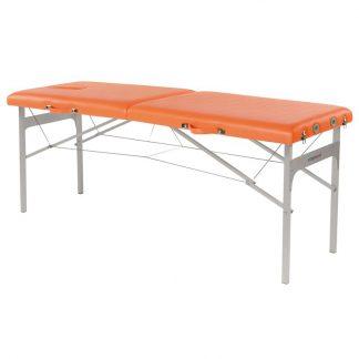 Hopfällbar massagebänk - Aluminiumram - 2-delad - 182x62 cm - Fast höjd