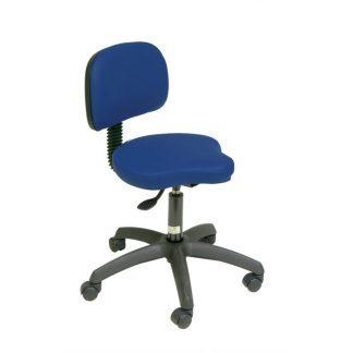 Tri-formad stol med ryggstöd - PVC-bas