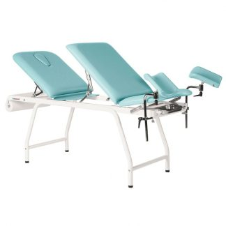 Stationary treatment table - 3 sections - Multifunctional - White coated frame