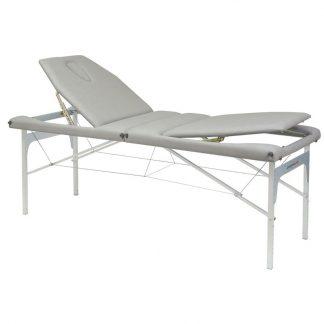 Hopfällbar massagebänk (Alu) - 2-delad - 182x70cm - Ryggstöd - Justerbar
