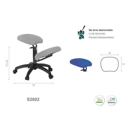 Knästol med svart bas