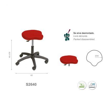 Tri-formad stol