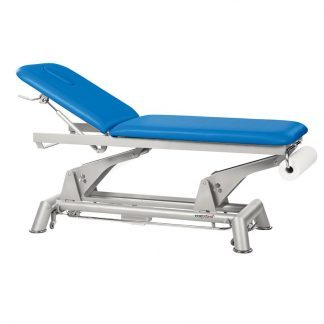 Electric treatment table - 2 sections with wheels - Paper roll holder - 1 motor