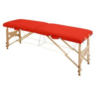 Hopfällbar massagebänk i trä - 2-delad - 182x50 cm - Justerbar höjd