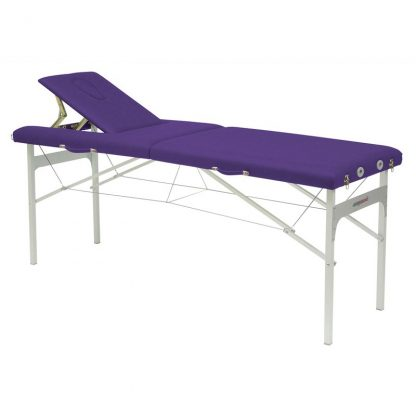 Hopfällbar massagebänk (Alu) - 2-delad - 182x62 cm - Fast höjd