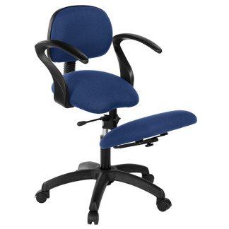 Knästol med rygg- och armstöd - Svart bas