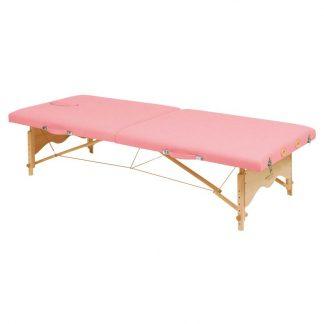 Hopfällbar massagebänk i trä - 2-delad - 182x70 cm (låg) - Justerbar höjd