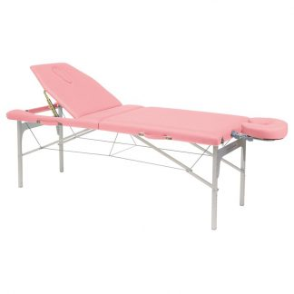Massagebänk i lätt aluminium - Justerbar höjd - Huvudstöd