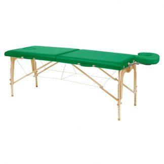 Hopfällbar massagebänk i trä - 2-delad - 182x70 cm - Justerbar