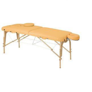 Hopfällbar massagebänk i trä - 2-delad - 186x70 cm - Justerbar