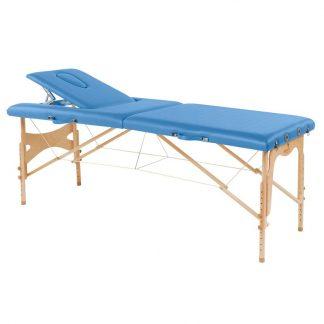 Hopfällbar massagebänk i trä - 2-delad - 182x70cm - Justerbar höjd/ryggstöd