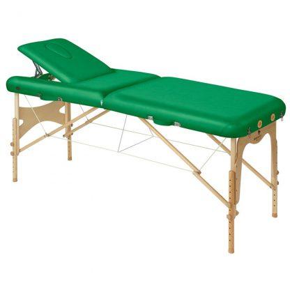 Hopfällbar massagebänk i trä - 2-delad - 186x70 cm - Justerbar - Ryggstöd