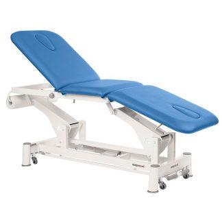 Elektrisk behandlingsstol - 3-delad med hjul - Ansiktshål i båda ändarna