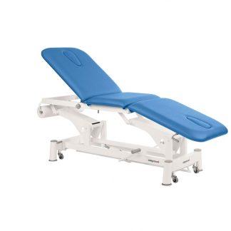 Hydraulisk behandlingsstol - 3-delad med hjul - Ansiktshål i båda ändarna