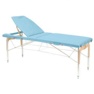Hopfällbar massagebänk (Alu) - 2-delad - 182x70 cm - Stort ryggstöd