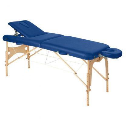 Hopfällbar massagebänk i trä - 2-delad - 186x70 cm - Rygg-/ansiktsstöd