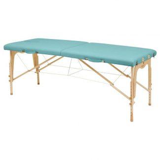 Hopfällbar massagebänk i trä - 2-delad - 182x70 cm - Justerbar höjd