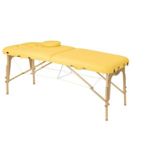 Foldable wooden massage table - 2 sections - 186x70 cm - Adjustable height