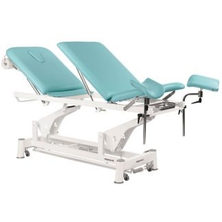 Electric treatment table - 3 sections with wheels - Multifunctional - TwinPillar-Lift