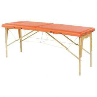 Foldable wooden massage table - 2 sections - 182x62 cm - Fixed height