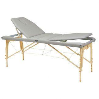 Hopfällbar massagebänk i trä - 2-delad - 182x70cm - Justerbar