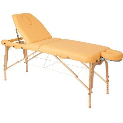 Hopfällbar massagebänk i trä - 2-delad - 186x70 cm - Stort ryggstöd