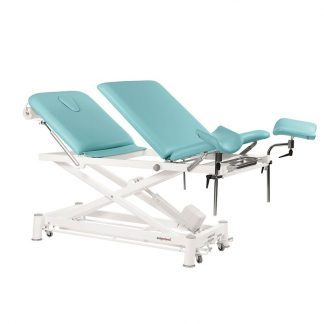 Electric treatment table - 3 sections with wheels - Multifunctional - Scissor lift
