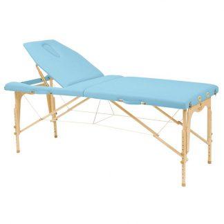 Hopfällbar massagebänk i trä - 2-delad - 182x70 cm - Justerbar - Ryggstöd