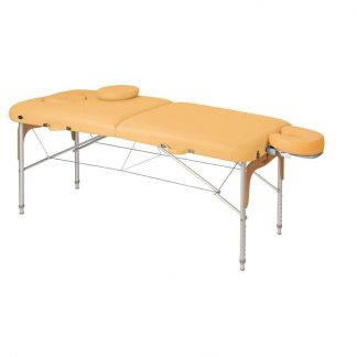 Foldable massage table (Aluminium) - 2 sections - 186x70 cm - Adjustable