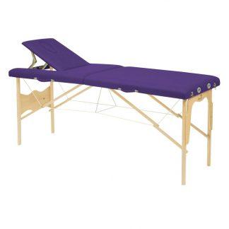 Hopfällbar massagebänk i trä - 2-delad - 182x50 cm - Fast höjd