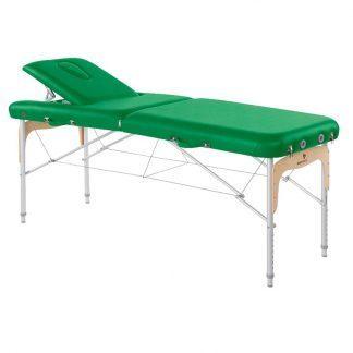 Hopfällbar massagebänk - Aluminium - 2-delad - 186x70 cm - Ryggstöd