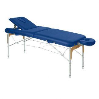 Hopfällbar massagebänk - Aluminium - 2-delad - 186x70cm - Rygg-/ansiktsstöd