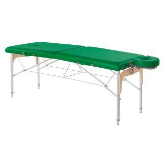 Hopfällbar massagebänk (Aluminium) - 2-delad - 182x70 cm - Justerbar höjd
