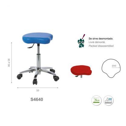 Tri-formad stol med krombas